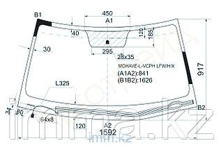 Стекло лобовое с обогревом щеток в клей KIA Borrego /Mohave 5D SUV 2008-
