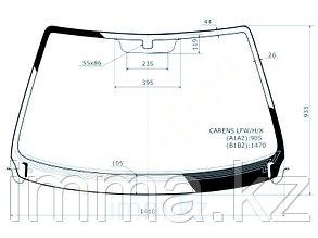 Стекло лобовое с обогревом щеток  в клей KIA CARENS II MPV 2003-