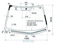 Стекло лобовое с обогревом щеток в клей KIA CEED 5D HBK LHD 06-