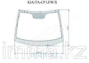 Стекло лобовое в клей KIA PICANTO TA/MORNING 5D HATCHBACK 2010-