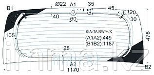 Стекло заднее (крышка багажника) в клей KIA PICANTO TA/MORNING 5D HATCHBACK 2010-