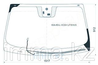 Стекло лобовое c обогревом щеток в клей KIA QUORIS/K9 SED 12-