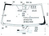 Стекло лобовое с обогревом щеток в клей Тойота LAND CRUISER/LEXUS LX570 07-