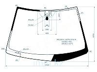 Стекло лобовое в клей LEXUS RX300/330 03-09