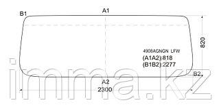 Стекло лобовое в резинку MAN F90 L28 COMMAND SMALL`86-
