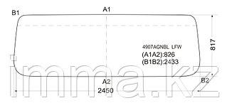 Стекло лобовое в резинку MAN F/FT90COMMAND WIDE/SHAANXI 86-