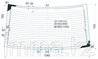 Стекло заднее с обогревом Мазда CAPELLA 626 4D SEDAN 87-91