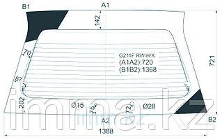 Стекло заднее (крышка багажника) с обогревом Мазда CAPELLA 626 WAGON 87-91