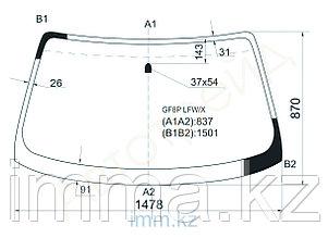 Стекло лобовое в клей Мазда CAPELLA 626 4D SEDAN 5D HBK 97-02