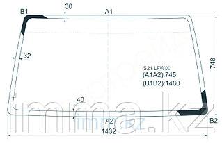 Стекло лобовое в клей Ниссан VANETTE VAN TRUCK 2001-/BONGO (клей)