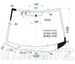 Стекло лобовое в клей Мазда CX-7 4D UTILITY 2007-