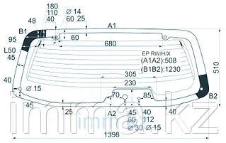 Стекло заднее (крышка багажника) с обогревом Мазда TRIBUTE 3.0 V6  WAGON 00-02  6 отверстий