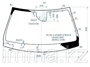Стекло лобовое с обогревом камеры в клей  мерседес BENZ A CLASS(W176) HBK 12-