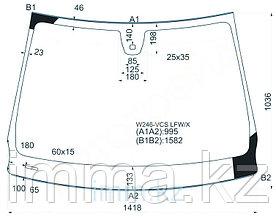 Стекло лобовое в клей мерседес BENZ B-CLASS W246 12- 5D