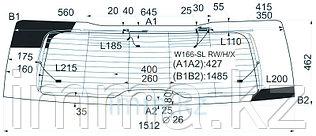 Стекло заднее (крышка багажника) с обогревом мерседес-BENZ GL-CLASS X166 12-