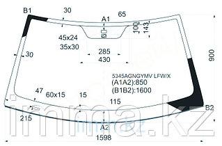 Стекло лобовое в клей мерседес BENZ CL-CLASS C215 99-06 2D