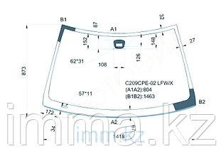 Стекло лобовое в клей мерседес Benz CLK (C209) Coupe 02-