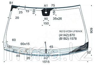 Стекло лобовое с обогревом щеток в клей мерседес BENZ E-CLASS W212 10--13