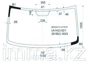 Стекло лобовое в клей мерседес BENZ SPRINTER(HGH)1995-/Фольксваген LT28-48