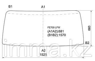 Стекло лобовое в резинку Митсубиси CANTER FE700M 2001-