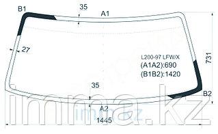 Стекло лобовое в клей Митсубиси A212 PICKUP 97-