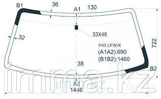 Стекло лобовое в клей Митсубиси CHALLENGER/PAJERO SPORT/L200 96-08