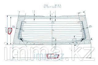 Стекло заднее (крышка багажника) с обогревом Митсубиси COLT NEW 5D HB 02-04