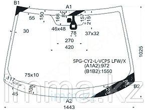 Стекло лобовое в клей LANCER X 2008-  C д.д./LANCER SPORTBACK