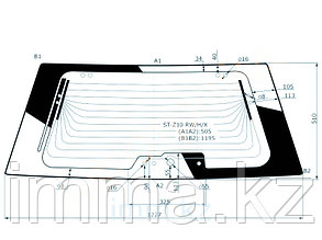 Стекло заденее (крышка багажника) с обогревом Ниссан CUBE 98-02