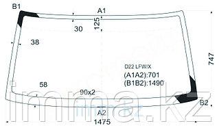 Стекло лобовое в клей NISSSAN DATSUN 88-96/FRONTIER/NAVARA 97-05/XTERRA 00-05