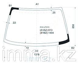 Стекло лобовое в клей Ниссан PULSAR (SUNNY N14) SEDAN 4D, 3/5в HB 90-95