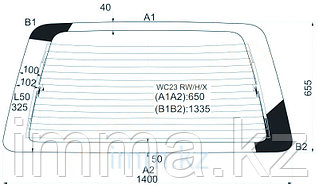 Стекло заднее (крышка багажника) с обогревом Ниссан SERENA 91-99 в клей
