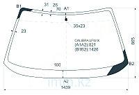 Стекло лобовое в клей OPEL CALIBRA 90-94