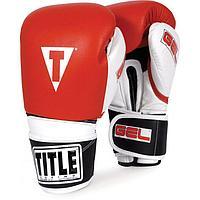 Боксерские перчатки TITLE GEL Intense (GIBSG, красные), фото 1