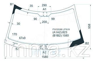 Стекло лобовое в клей SAAB 9-5 4D SED/HB 97-  (без дд)