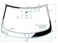 Стекло лобовое в клей SKODA RAPID/SEAT TOLEDO 4D 12-
