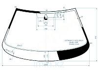 Стекло лобовое в клей SKODA OCTAVIA 5D LBK/5D STW 13-