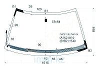 Стекло лобовое с обогревом щеток в клей SUBARU FORESTER 97-02