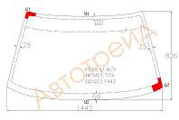 Стекло лобовое в клей Тойота COROLLA EE90 4D/2-BOX/3D/5D 87-91