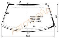 Стекло лобовое в клей Фольксваген PASSAT B3,B4 4D SED,WAGON 87-96