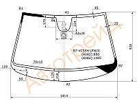 Стекло лобовое в клей Фольксваген PASSAT B7 4D/5D 2011-