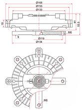 Вискомуфта PAJERO II 91-99  2.8 TD 4M40