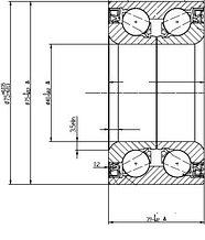 Подшипник FR ступицы Тойота VITZ/BELTA/RACTIS 05- с ABS