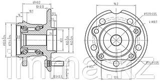 Ступица задняя  RAV4 ACA2# 00- 4WD