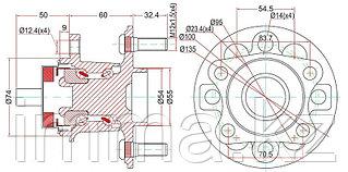 Ступица задняя VITZ (KSP90,NCP9#,SCP90) 05- ; RACTIS (NCP10#,SCP100) 05- ;  BELTA #SP92   05-