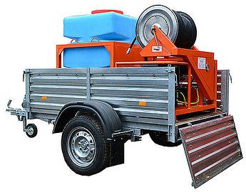 Каналопромывочная машина ПРЕУС Б1550КП на прицепе