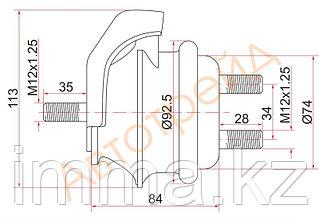 Подушка двигателя FR Тойота MARK2,VEROSSA 1GFE 00-