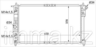 Радиатор дэу NUBIRA 1.5/1.6/1.8/2.0 97-/LEGANZA 2.0 97-