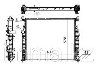Радиатор мерседес ML/GL/R-CLASS W164/X164/W251 2.8D/3.0D/3.2D/3.5/3.5D/4.5/5.0/5.5/6.3AMG