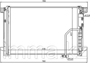 Радиатор кондиционера мерседес E-CLASS W212 09-/мерседес C-CLASS W204 06-